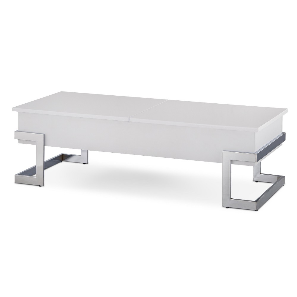 Coffee Table White Chrome