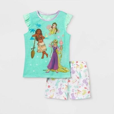 Girls' Disney Princess 2pc Pajama Set - Green