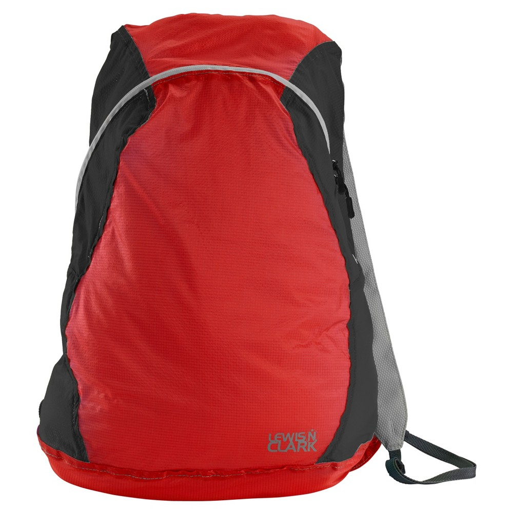 """Image of """"Lewis N. Clark Electrolight 17"""""""" Backpack - Red/Charcoal, Size: Small, Red/Grey"""""""