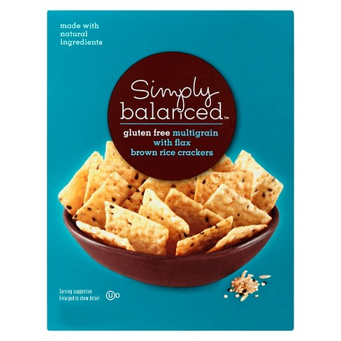 Gluten Free Multi-Grain With Flax Brown Rice Crackers 3.5oz - Simply Balanced™ - image 1 of 3