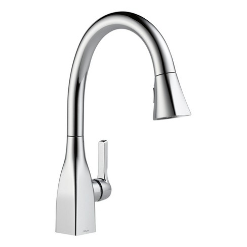 Delta Faucet 9183-DST Mateo 1.8 GPM Single Hole Kitchen Faucet with Diamond  Seal and Touch-Cle - Chrome