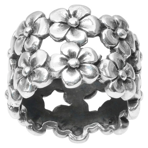 Women's Journee Collection Flower Band in Sterling Silver - Silver - image 1 of 2