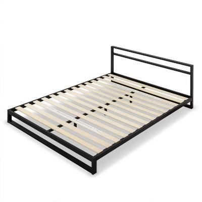 Trisha Platforma Bed Frame with Headboard Black - Zinus