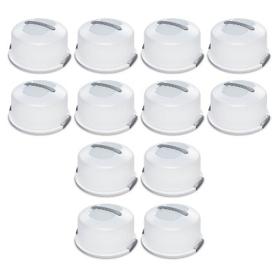 Sterilite Portable Latching Cake Server Carrier Keeper w/ Handles (12 Pack)