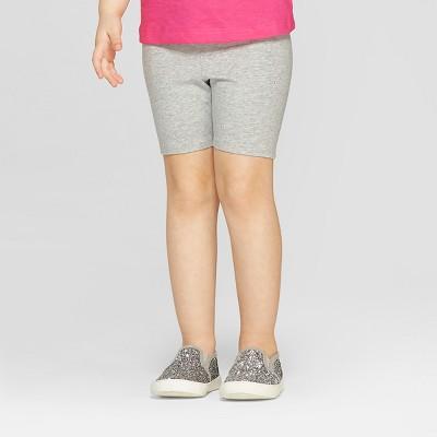 Toddler Girls' Bike Shorts - Cat & Jack™ Heather Gray 5T