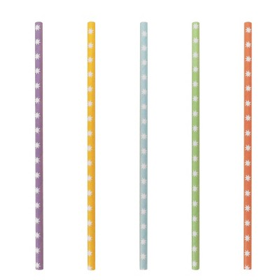 20ct Straws Star Pattern Disposable Tableware Accessories - Spritz™