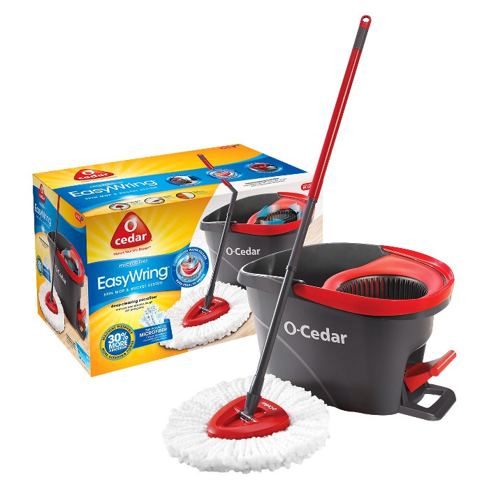O-Cedar Easy Wring Spin Mop and Bucket - image 1 of 6