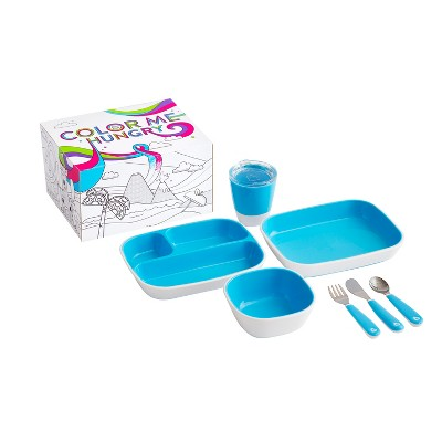 Munchkin Color Me Hungry Splash Dining Set - Blue