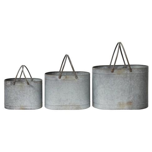 "Tin Bucket set of 3 (18-1/2""L) - image 1 of 1"