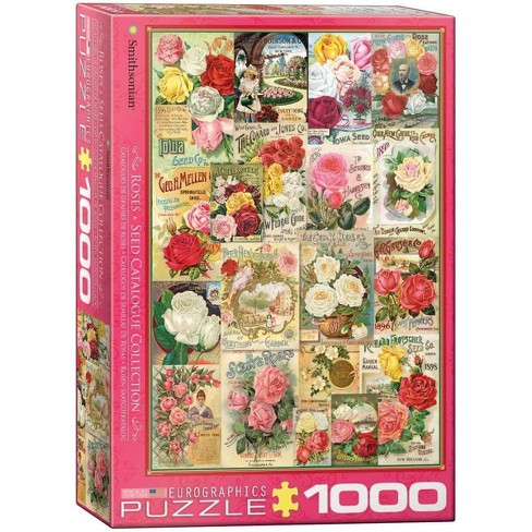 Eurographics Inc. Roses Smithsonian Seed Catalogues 1000 Piece Jigsaw Puzzle - image 1 of 4