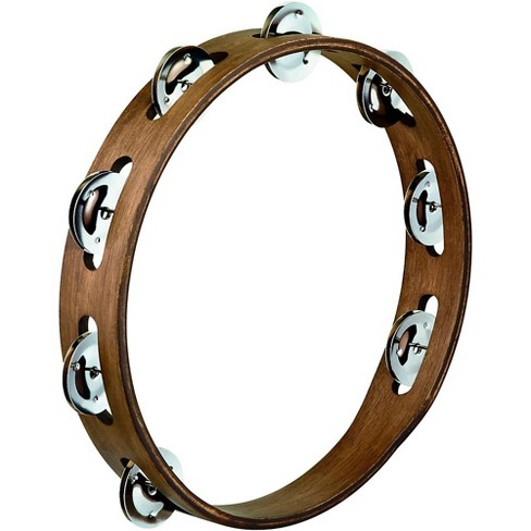 Meinl Wood Tambourine with Single Row Stainless Steel Jingles 10 in. Walnut Brown - image 1 of 1