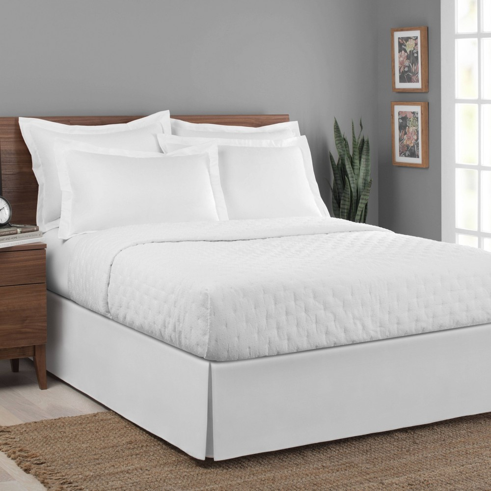 Image of Today's Home California King Microfiber Tailored Bed Skirt White