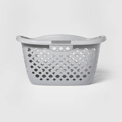 1.8 Hip Hugger Bushel Laundry Basket Gray - Room Essentials™