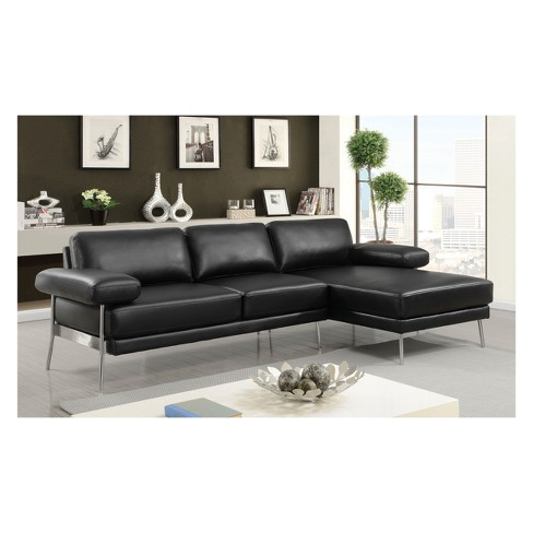 Errico Contemporary Leatherette Sectional Sofas - HOMES: Inside + ...