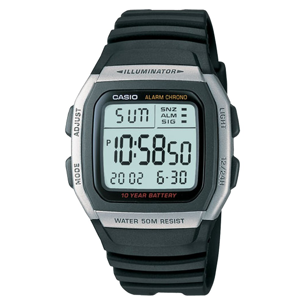Men's Casio Alarm Chronograph Watch - Black (W96H-1AV)