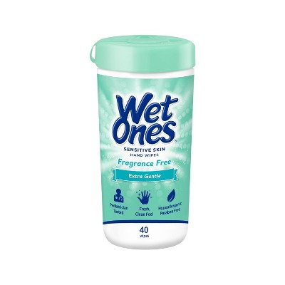 Wet Ones Sensitive Skin Hand Wipes Canister - Fragrance Free - 40ct
