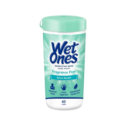 Wet Ones Sensitive Skin Hand Wipes Canister - Fragrance Free - 40ct - image 1 of 4