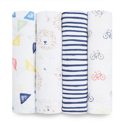 Aden + Anais Swaddles 4pk - Leader of the Pack - White