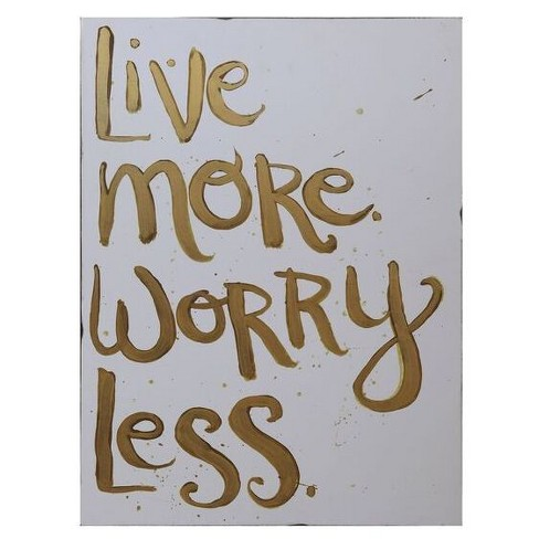 "MDF ""Live More Worry Less"" Wall Décor - 3R Studios - image 1 of 1"