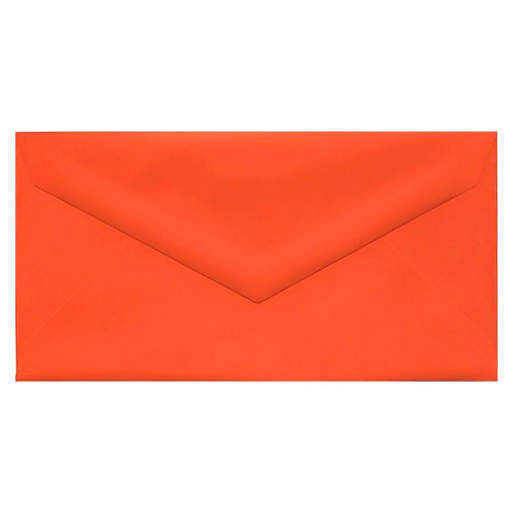 Jam Paper Brite Hue Monarch Envelopes, 3 7/8 x 7 1/2, 50 per pack, Orange, Orange Smoothie