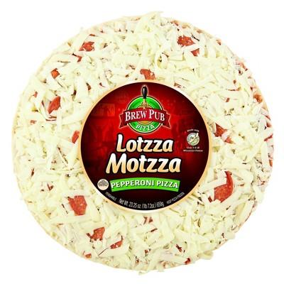 Brew Pub Lotzza Motzza Pepperoni Frozen Pizza - 23.25oz