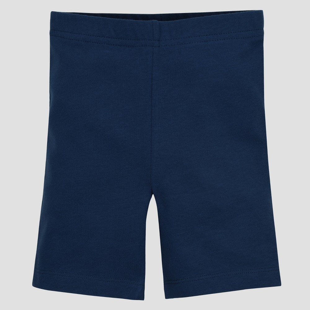Image of Gerber Graduates Baby Girls' Bike Shorts - Navy 24M, Girl's, Size: Small, Blue