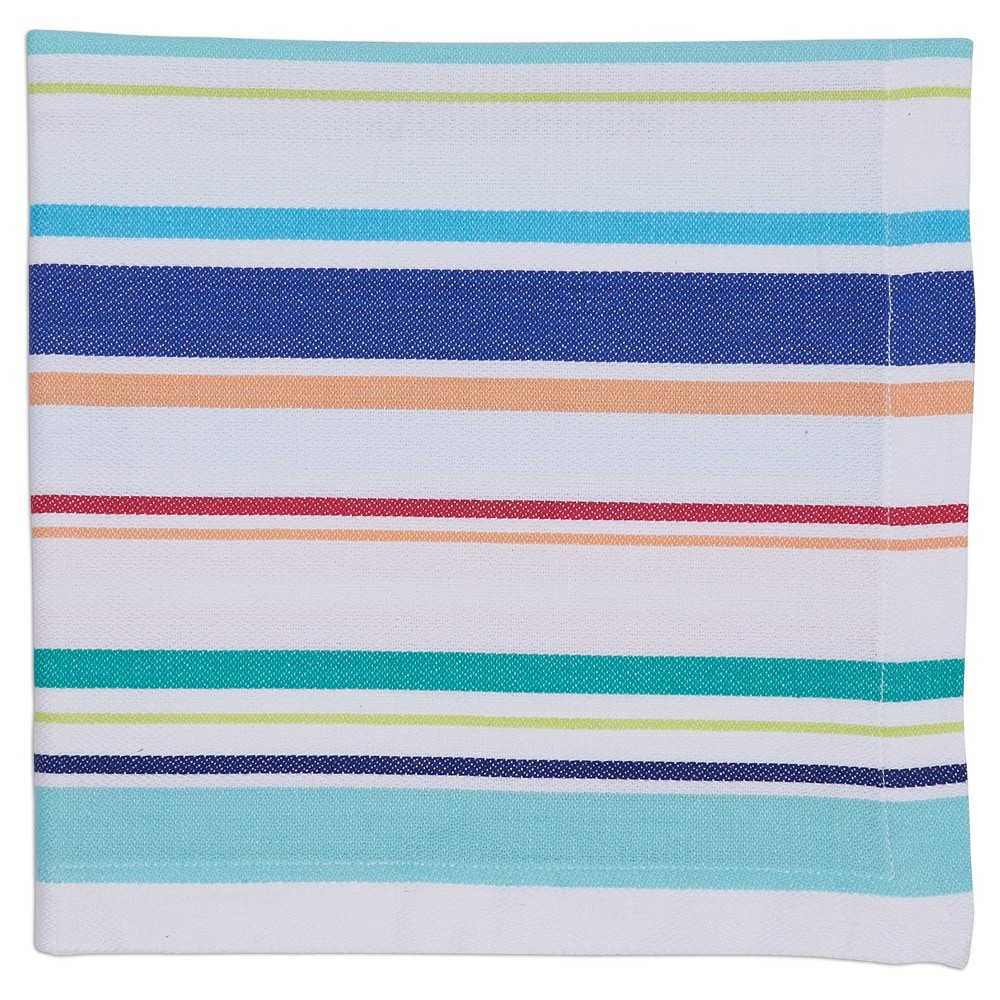 6pk Blue Beachy Stripe Napkin 20x20 - Design Imports