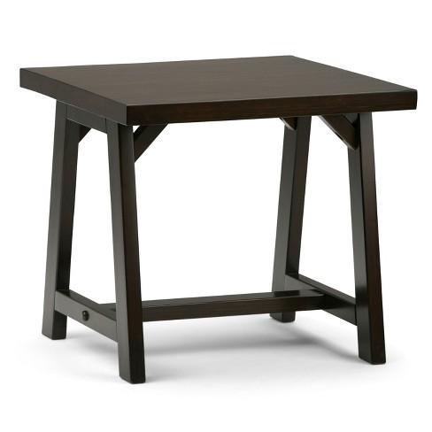 Hawkins Solid Wood End Table Dark Chestnut Brown Wyndenhall Target