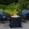 Cavalier Fire Table with Natural Gas Kit Black - Real Flame - image 2 of 3
