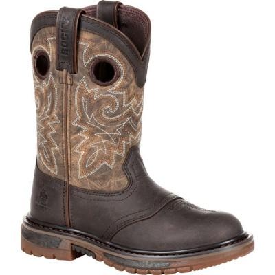 Rocky Little Kid's Original Ride FLX Brown Western Boot