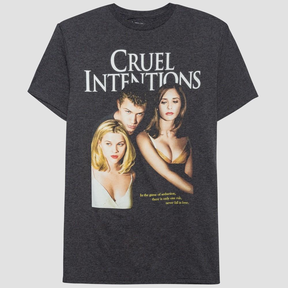 Men's Cruel Intentions Short Sleeve Graphic T-Shirt - Black Diagonal L