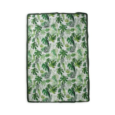 Little Unicorn 5x7 All Purpose Indoor/Outdoor Travel Blanket - Tropical Leaf