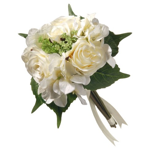 "Artificial Rose & Hydrangea Bouquet Cream 12"" - National Tree Company® - image 1 of 1"