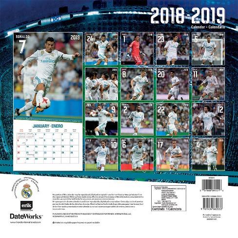 Calendario Real Madrid 2019.2019 Wall Calendar Real Madrid 17 Month Trends International