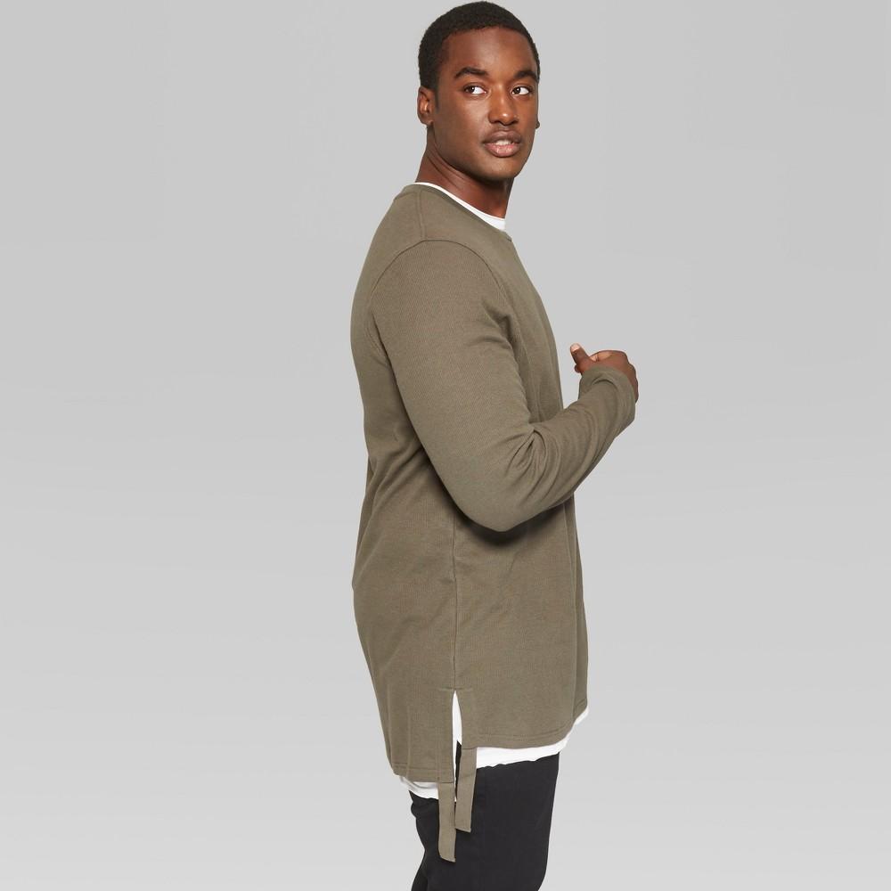 Men's Big & Tall Long Sleeve Thermal T-Shirt - Original Use Paris Green 5XBT