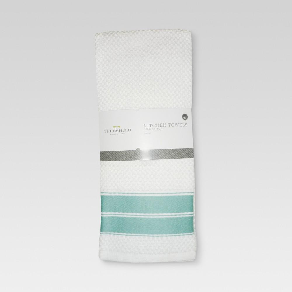 Image of 4pk Dish Towel Aqua - Threshold , Blue