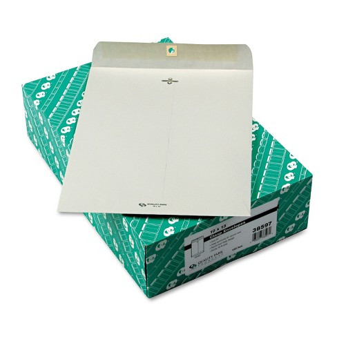 Quality Park Clasp Envelope 10 x 13 28lb Executive Gray 100/Box 38597 - image 1 of 1