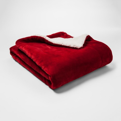 Holiday Sherpa Throw Blanket - Threshold™ - image 1 of 1