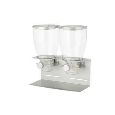Honey-Can-Do Double Dispenser Silver