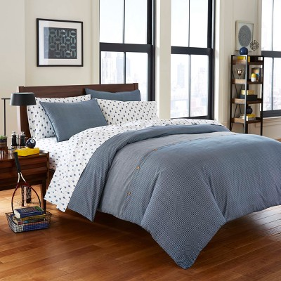 Full/Queen Navy Thompson Duvet Cover Set - Poppy & Fritz