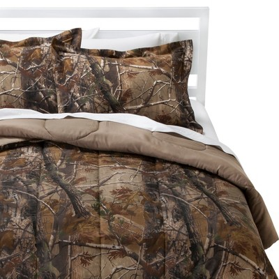 Realtree Nature Inspired Comforter Set - Brown (King)