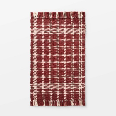 "2'1""x3'2"" Indoor/Outdoor Scatter Check Rug Rust - Threshold™ designed by Studio McGee"