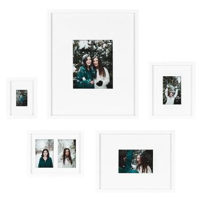 5pc Gallery Frame Box Set White - Kate & Laurel All Things Decor
