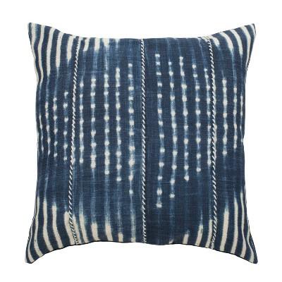 Laurena Square Throw Pillow Blue/Cream - Safavieh