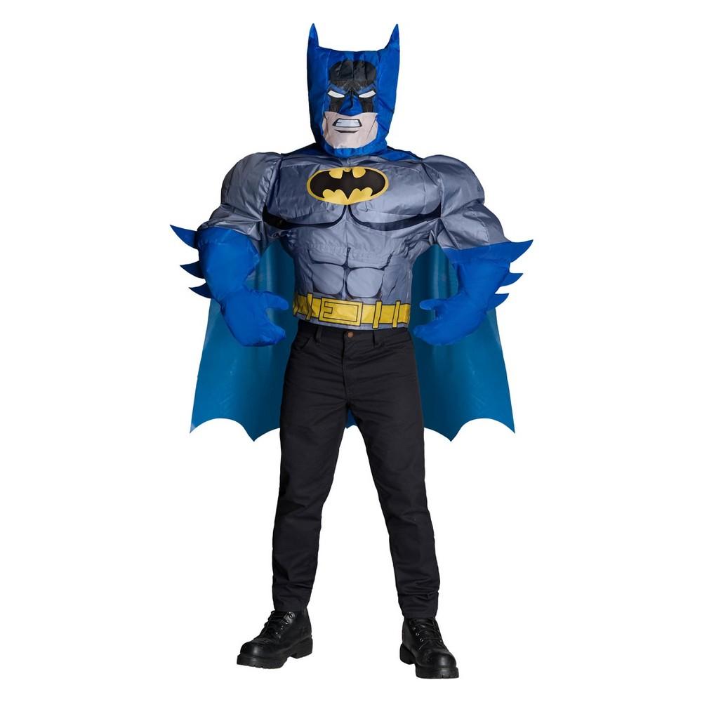 Image of Halloween Men's DC Comics Batman Inflatable Halloween Costume Top, Size: Small, MultiColored