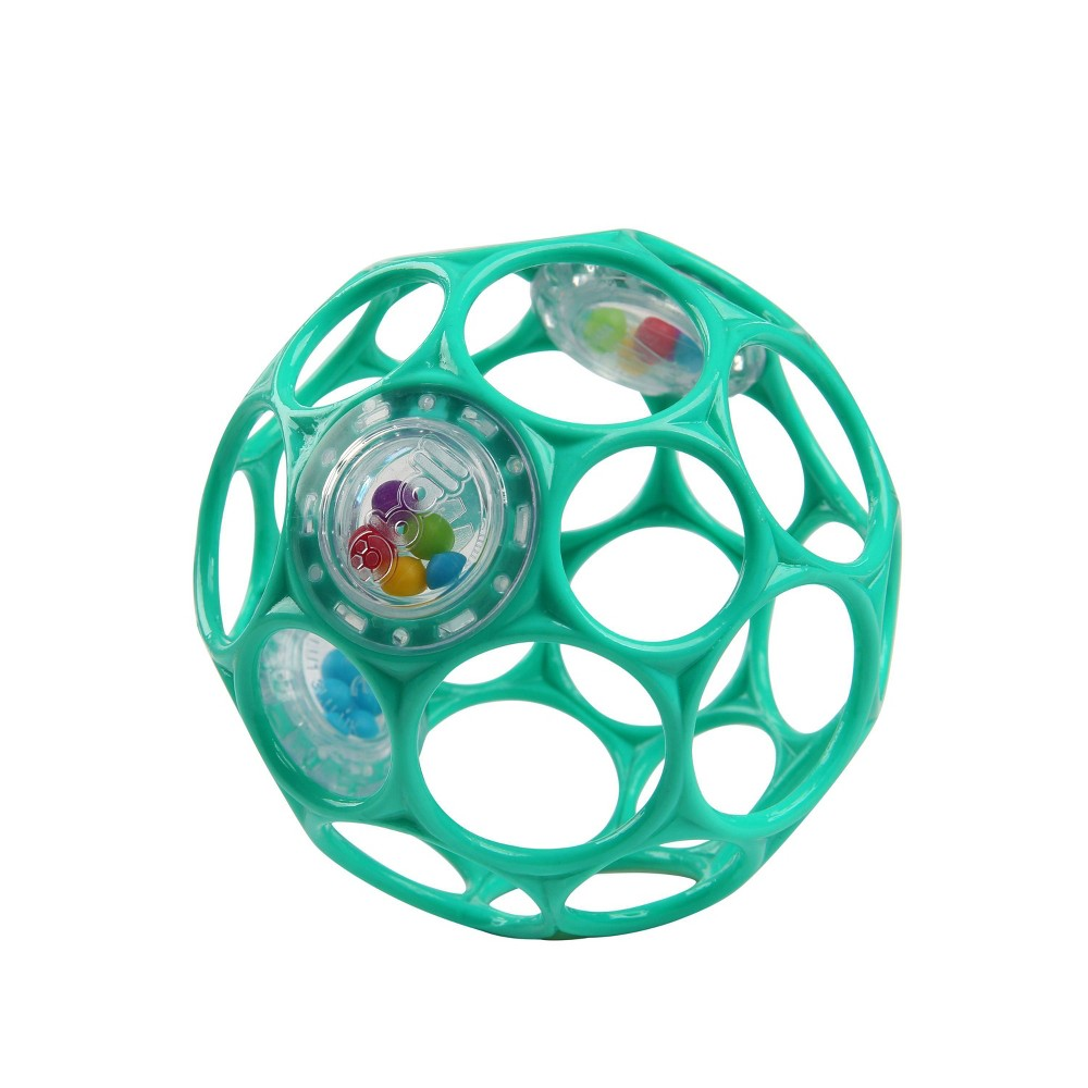 Image of Oball Toy Ball Rattle - Teal, Blue