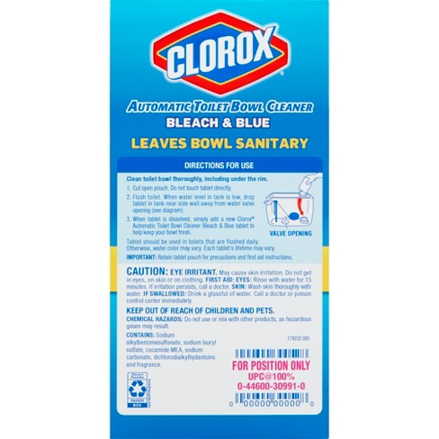 Clorox Rain Clean Scent Automatic Toilet Bowl Cleaner Bleach And Blue 2 47 Oz 4 Pk Target