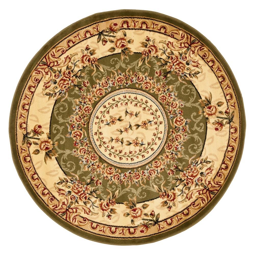 8 Medallion Loomed Round Area Rug Sage Ivory Safavieh
