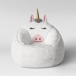Character Bean Bag Pouf White Unicorn - Pillowfort™