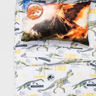 Jurassic World Twin 3pc Dinosaur Sheet Set